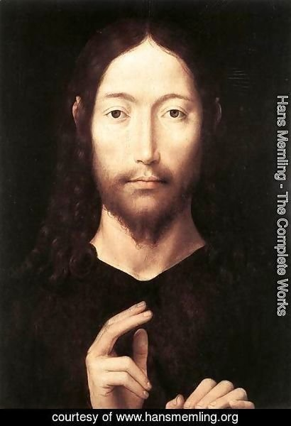 Hans Memling - Christ Giving His Blessing 1478