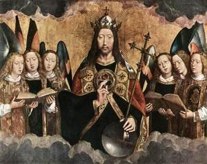 Hans Memling - Christ Surrounded by Musician Angels 1480s