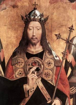 Hans Memling - Christ Surrounded by Musician Angels (detail) 1480s