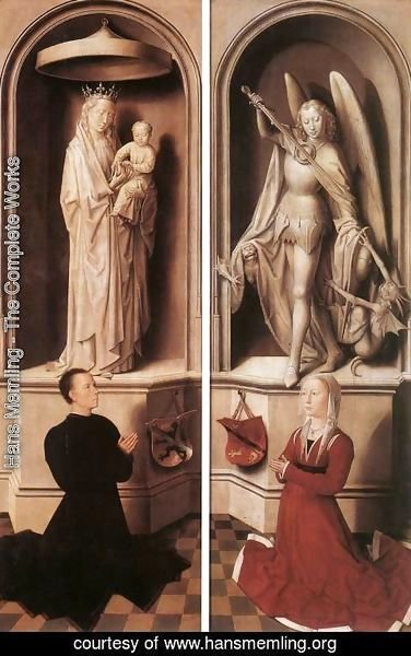 Hans Memling - Last Judgment Triptych (closed) 1467-71