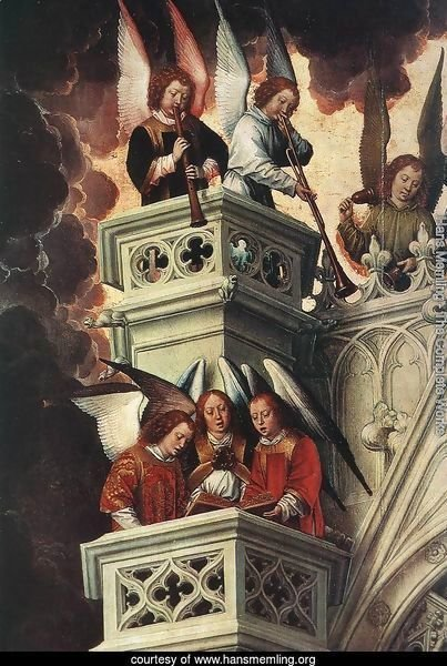 Last Judgment Triptych (detail-2) 1467-71