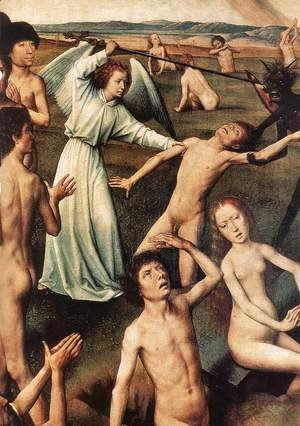 Last Judgment Triptych (detail-6) 1467-71