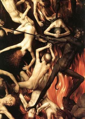 Last Judgment Triptych (detail-8) 1467-71