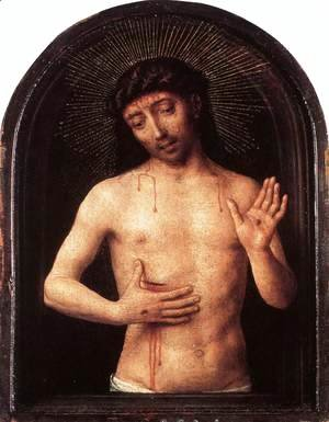 Hans Memling - Man of Sorrows  1490