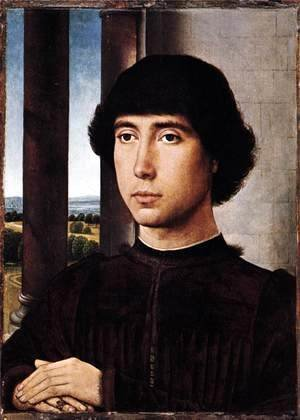 Hans Memling - Portrait of a Man at a Loggia c. 1480