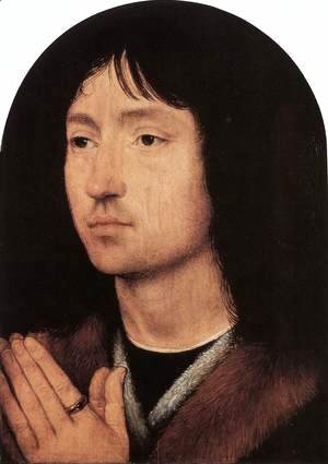 Hans Memling - Portrait of a Young Man at Prayer c. 1487