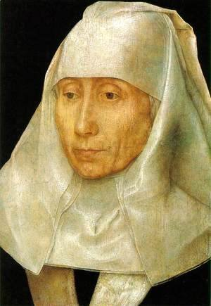 Hans Memling - Portrait of an Old Woman 1468-70