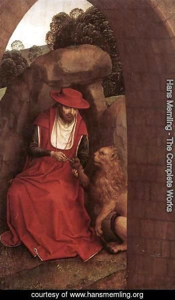 Hans Memling - St Jerome and the Lion 1485-90