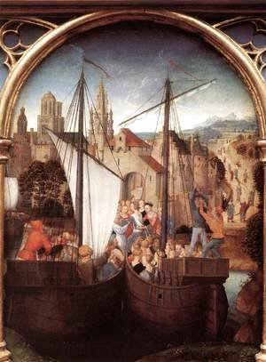 St Ursula Shrine- Arrival in Basle (scene 2) 1489