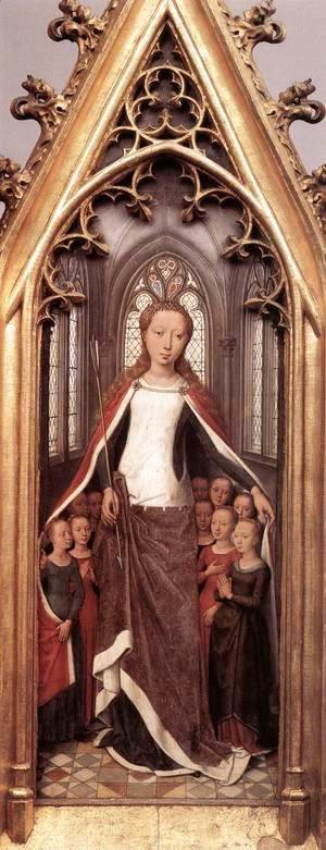 Hans Memling - St Ursula Shrine- St Ursula anad the Holy Virgins 1489