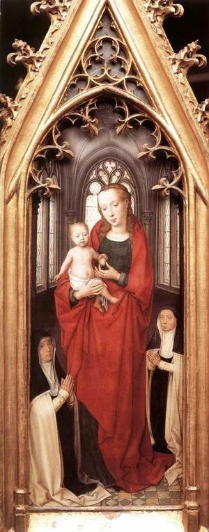 Hans Memling - St Ursula Shrine- Virgin and Child 1489