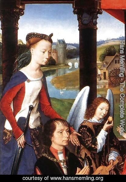 Hans Memling - The Donne Triptych (detail-1) 1475