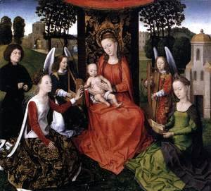 Hans Memling - The Mystic Marriage of St Catherine 1479-80