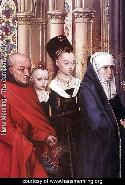 Hans Memling - The Presentation in the Temple (detail) 1463