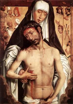 Hans Memling - The Virgin Showing the Man of Sorrows 1475 or 1479