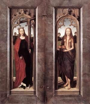 Hans Memling - Triptych of Adriaan Reins (closed) 1480