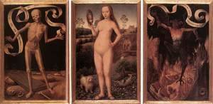 Hans Memling - Triptych of Earthly Vanity and Divine Salvation (front) c. 1485