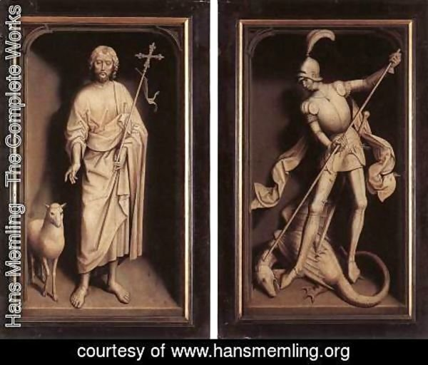 Hans Memling - Triptych of the Family Moreel (closed) 1484