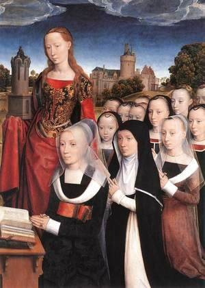 Hans Memling - Triptych of the Family Moreel (detail) 1484