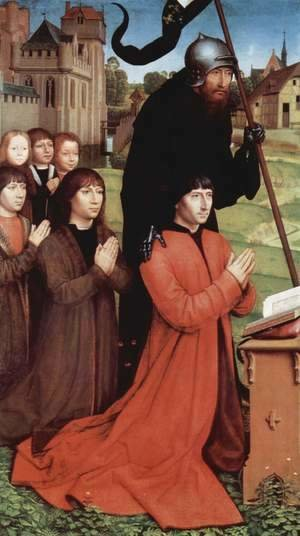 Hans Memling - Triptych of the Family Moreel (left wing) 1484