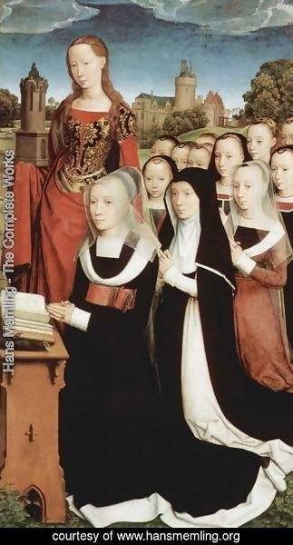 Hans Memling - Triptych of the Family Moreel (right wing) 1484