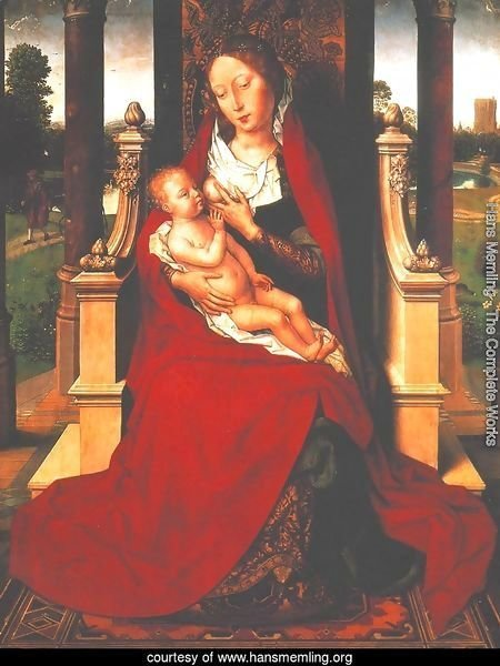 Madonna with Child on a Throne