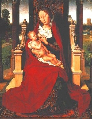 Hans Memling - Madonna with Child on a Throne
